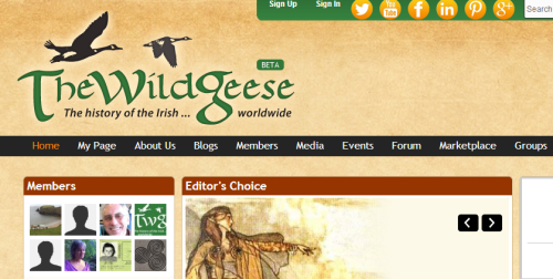 new look and social sharing functions highlight TheNewWildGeese.com