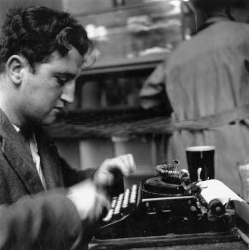 Brendan Behan at work...in a pub