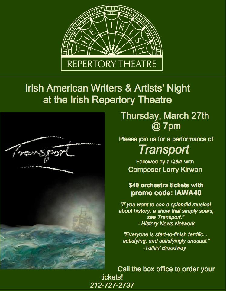 March   2014   Irish American Writers & Artists